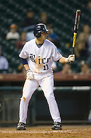 Rick Hauge #11 of the Rice Owls at bat versus the UCLA Bruins in the 2009 Houston College Classic at Minute Maid Park February 27, 2009 in Houston, TX.  The Owls defeated the Bruins 5-4 in 10 innings. (Photo by Brian Westerholt / Four Seam Images)