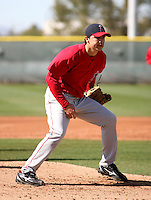 Fernando Rodriguez - Los Angeles Angels - 2009 spring training.Photo by:  Bill Mitchell/Four Seam Images