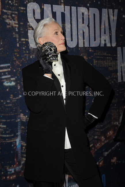 WWW.ACEPIXS.COM<br /> February 15, 2015 New York City<br /> <br /> Glenn Close walking the red carpet at the SNL 40th Anniversary Special at 30 Rockefeller Plaza on February 15, 2015 in New York City.<br /> <br /> Please byline: Kristin Callahan/AcePictures<br /> <br /> ACEPIXS.COM<br /> <br /> Tel: (646) 769 0430<br /> e-mail: info@acepixs.com<br /> web: http://www.acepixs.com
