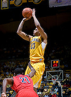 Allen Crabbe of California shoots the ball during the game against Arizona at Haas Pavilion in Berkeley, California on February 2nd, 2012.  Arizona defeated California, 78-74.