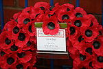 Remembrance wreath at the statue from Rangers