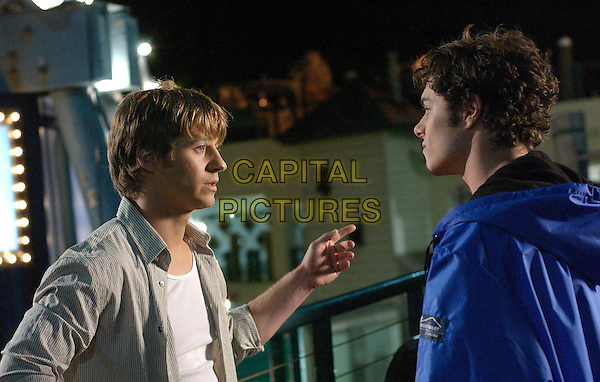 """BENJAMIN McKENZIE & ADAM BRODY.in The O.C..""""The New Era"""".*Editorial Use Only*.www.capitalpictures.com.sales@capitalpictures.com.Supplied by Capital Pictures."""