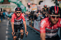Tiesj Benoot (BEL/Lotto-Soudal) at the race start in Bergamo<br /> <br /> 112th Il Lombardia 2018 (ITA)<br /> from Bergamo to Como: 241km
