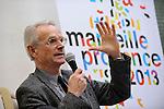 Marseille Provence 2013 présente le dispositif des Ateliers de l'EuroMéditerranée (AEM) - Conférence de presse à la Salle des ventes Leclerc -  Marseille - 8 mars 2010 -