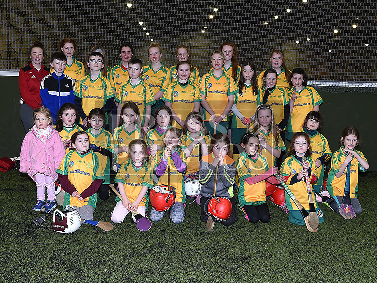 children from St. Ammes Camogie club Togher who took part in the Camogie tournament at Drogheda Leisure Centre. Photo:Colin Bell/pressphotos.ie