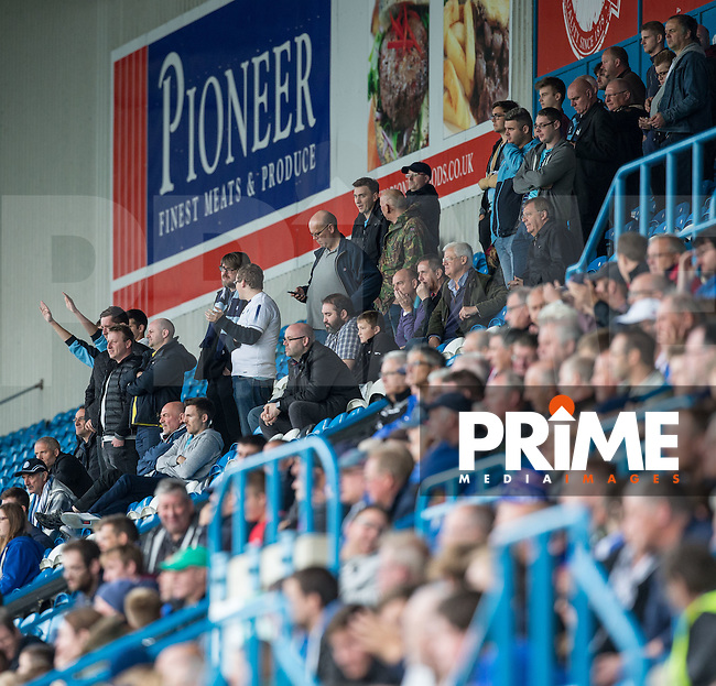 Wycombe Wanderers travelling supporters (116) during the Sky Bet League 2 match between Carlisle United and Wycombe Wanderers at Brunton Park, Carlisle, England on 24 September 2016. Photo by Andy Rowland.