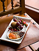 A plate of fruit and nuts await guests at the Parador Santo Domingo de la Calzada, an old hospital converted into a hotel.  The town of Santo Domingo de la Calzada is along the pilgrimage route to Santiago de Compostela in the La Rioja region of Spain. Photo by Kevin J. Miyazaki/Redux