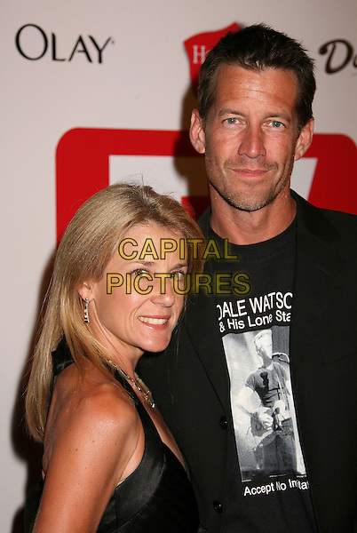 ERIN O'BRIEN & JAMES DENTON.The TV Guide After Party following the 58th Annual Primetime Emmy Awards, Los Angeles, California, USA..August 27th, 2006.Ref: ADM/BP.headshot portrait stubble married husband wife.www.capitalpictures.com.sales@capitalpictures.com.©Byron Purvis/AdMedia/Capital Pictures.