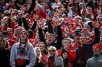 Ohio State Buckeyes fans celebrate after a touchdown from Ohio State Buckeyes wide receiver K.J. Hill Jr., not pictured, during the second quarter of a NCAA college football game between the Ohio State Buckeyes and the Minnesota Golden Gophers on Saturday, October 13, 2018 at Ohio Stadium in Columbus, Ohio. [Joshua A. Bickel/Dispatch]