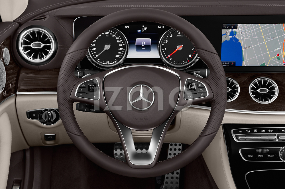 Car pictures of steering wheel view of a 2018 Mercedes Benz E Class E400 2 Door Convertible
