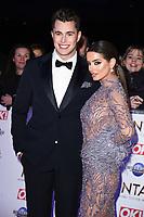 Maura Higgins and Curtis Pritchard<br /> arriving for the National TV Awards 2020 at the O2 Arena, London.<br /> <br /> ©Ash Knotek  D3550 28/01/2020