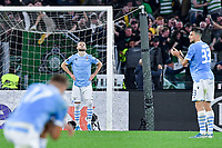 7th November 2019, Rome, Italy; UEFA Europa League football , group stages, Lazio versus Glasgow Celtic;  Lazio playes look dejected as they leak a late goal to Celtic for 1-2 - Editorial Use