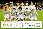 Real Madrid´s goalkeeper Keylor Navas, Pepe, Sergio Ramos, Cristiano Ronaldo, Karim Benzema, Gareth Bale, Marcelo Vieira, Daniel Carvajal, Lucas Silva, Luka Modric and Isco during 2014-15 La Liga match between Real Madrid and Levante UD at Santiago Bernabeu stadium in Madrid, Spain. March 15, 2015. (ALTERPHOTOS/Luis Fernandez)