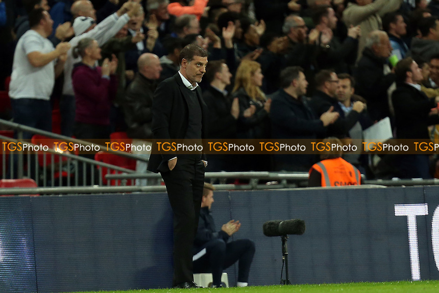 West Ham United manager Slaven Bilic as Spurs take the lead during Tottenham Hotspur vs West Ham United, Caraboa Cup Football at Wembley Stadium on 25th October 2017