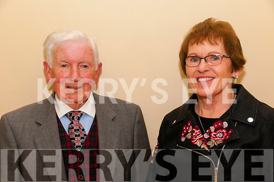 Retirement: Volunteer directors Oliver O'Neill & Eilish Perryman pictured at their retirement from Kerry Parents & Friends, Listowel branch on Monday night last.