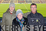 Pictured at the Dr Crokes match in Portlaoise on Saturday, from left: Brendan and Carmel Keogh (Killarney) and Tommy Woods (Killorglin)..