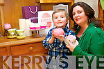 In a bid to overcome chronic back pain and to aid her son's asthma, Fleur Daly, set out about creating soy-based candles which in turn  have become a successful business for the Killarney woman. .Pictured with her son, Jamie.