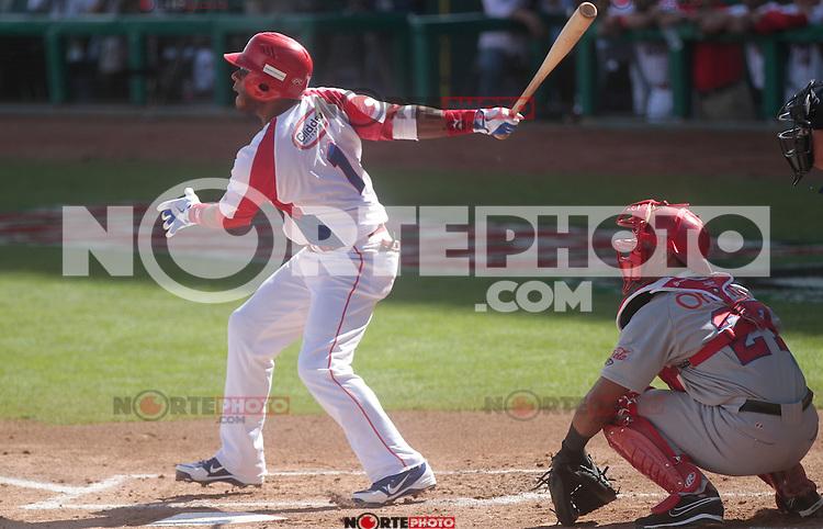 Rey Navarro (PuertoRico) durante  la Serie del Caribe 2013  de Beisbol,  Puerto Rico  vs Republica Dominicana ,  en el estadio Sonora el 2 de febrero de 2013...© (foto:BaldemarDeLosLlanos/NortePhoto)........during the 2013 Caribbean Series Baseball, Puerto Rico vs Dominican Republic in Sonora Stadium on February 2, 2013 ...© (photo: Baldemar of Llanos / NortePhoto)...http://mlb.mlb.com/mlb/events/winterleagues/league.jsp?league=cse