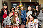 Teen Birthday<br /> -------------------<br /> Aoife O'Connor, Tralee, sits between Lauren Pitman (Lt) &amp; Leah Hickey in Pizza Time, Tralee, for her 15th birthday last Saturday afternoon, back L-R Sadie O'Sullivan, Saoirse Murphy, Clodagh O'Sullivan, Joy Murphy, Louise O'Sullivan and Orla Doyle.