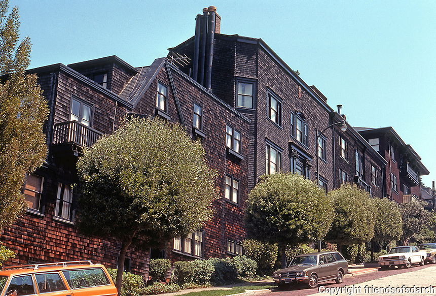San Francisco: Houses, 3200 Block Pacific. Ernest Coxhead, Willis Polk et. al.   Photo '78.