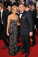 Joanne Froggatt &amp; Allen Leech at the 72nd Annual Golden Globe Awards at the Beverly Hilton Hotel, Beverly Hills.<br /> January 11, 2015  Beverly Hills, CA<br /> Picture: Paul Smith / Featureflash