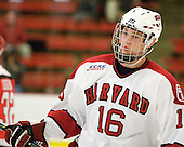 Alex Fallstrom (Harvard - 16) - The St. Lawrence University Saints defeated the Harvard University Crimson 3-2 on Friday, November 20, 2009, at the Bright Hockey Center in Cambridge, Massachusetts.
