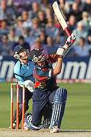 Graham Napier of Essex sends the ball to the heavens and is caught by wicket keeper Ben Brown - Essex Eagles vs Sussex Sharks - Friends Life T20 Cricket at the Ford County Ground, Chelmsford, Essex - 28/06/12 - MANDATORY CREDIT: Gavin Ellis/TGSPHOTO - Self billing applies where appropriate - 0845 094 6026 - contact@tgsphoto.co.uk - NO UNPAID USE.