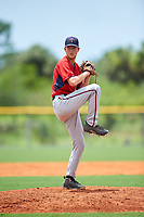 GCL Twins relief pitcher Matt Jones (33) delivers a pitch during the first game of a doubleheader against the GCL Rays on July 18, 2017 at Charlotte Sports Park in Port Charlotte, Florida.  GCL Twins defeated the GCL Rays 11-5 in a continuation of a game that was suspended on July 17th at CenturyLink Sports Complex in Fort Myers, Florida due to inclement weather.  (Mike Janes/Four Seam Images)