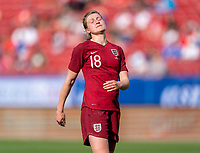 FRISCO, TX - MARCH 11: Ellen White #18 of England reacts to a missed chance during a game between England and Spain at Toyota Stadium on March 11, 2020 in Frisco, Texas.