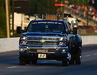 May 17, 2014; Commerce, GA, USA; NHRA Safety Safari truck during qualifying for the Southern Nationals at Atlanta Dragway. Mandatory Credit: Mark J. Rebilas-USA TODAY Sports