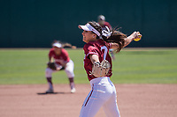 STANFORD, CA -- April 15, 2018. <br /> Carolyn Lee during the Stanford Cardinal women's softball team loss to the Oregon State Beavers at the Smith Family Stadium 12-1.