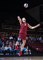 STANFORD, CA - March 2, 2019: Paul Bischoff at Maples Pavilion. The Stanford Cardinal defeated BYU 25-20, 25-20, 22-25, 25-21.