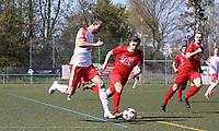 Julian Kasprzik (Büttelborn) setzt sich durch - 07.04.2019: SKV Büttelborn vs. TSV Lengfeld, Gruppenliga Darmstadt