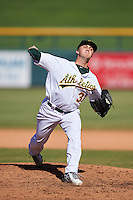 Mesa Solar Sox pitcher Sam Bragg (31), of the Oakland Athletics organization, during a game against the Scottsdale Scorpions on October 21, 2016 at Sloan Park in Mesa, Arizona.  Mesa defeated Scottsdale 4-3.  (Mike Janes/Four Seam Images)