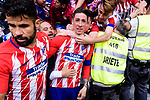 #9 Fernando Torres of Atletico de Madrid (C) celebrating his score with fans during the La Liga match between Atletico Madrid and Eibar at Wanda Metropolitano Stadium on May 20, 2018 in Madrid, Spain. Photo by Diego Souto / Power Sport Images