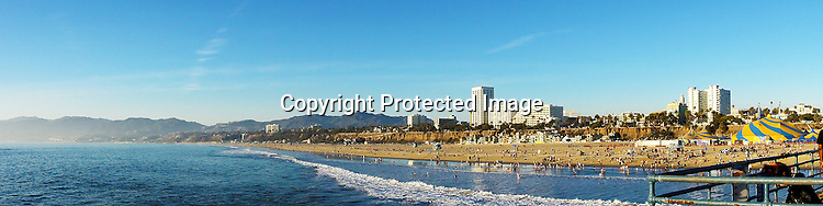 Panorama photo of Santa Monica California