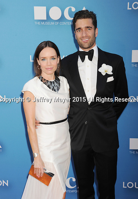 LOS ANGELES, CA - MAY 30: Activist/philanthropist Jessica Robin Trent (L) and Matthew Nolan arrive at the 2015 MOCA Gala presented by Louis Vuitton at The Geffen Contemporary at MOCA on May 30, 2015 in Los Angeles, California.