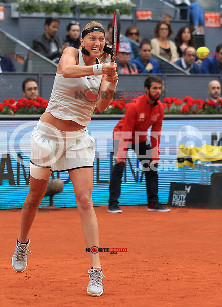Petra Kvitova, Czech Republic, during Madrid Open Tennis 2018 Final match. May 12, 2018.(ALTERPHOTOS/Alberto Simon)
