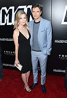 08 August 2018 - Beverly Hills, California - Ashley Hinshaw, Topher Grace . Premiere Of Focus Features' &quot;BlacKkKlansman&quot; held at Samuel Goldwyn Theater. <br /> CAP/ADM/BT<br /> &copy;BT/ADM/Capital Pictures