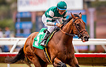 AUG 11: Inspiressa with Victor Espinoza wins a maiden race at The Del Mar Thoroughbred Club in Del Mar, California on August 11, 2019. Evers/Eclipse Sportswire/CSM