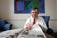 Former Prime Minister, Chancellor and leader of the Labour Party Gordon Brown...
