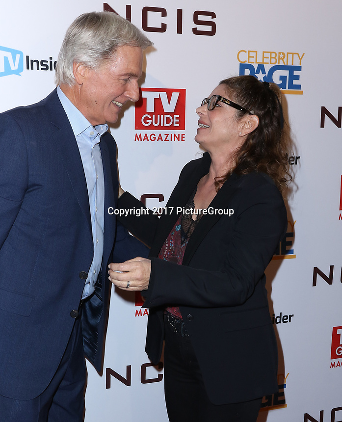 "STUDIO CITY, CA - NOVEMBER 6: (L-R) Mark Harmon and Laura San Giacomo attend the TV Guide Magazine Cover Party for Mark Harmon and 15 seasons of the CBS show ""NCIS"" at River Rock at Sportsmen's Lodge on November 6, 2017 in Studio City, California. (Photo by JC Olivera/PictureGroup)"