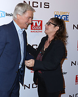 """STUDIO CITY, CA - NOVEMBER 6: (L-R) Mark Harmon and Laura San Giacomo attend the TV Guide Magazine Cover Party for Mark Harmon and 15 seasons of the CBS show """"NCIS"""" at River Rock at Sportsmen's Lodge on November 6, 2017 in Studio City, California. (Photo by JC Olivera/PictureGroup)"""