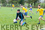 Glenflesk Keeper, Mark Kelleher under pressure from the Ballymac forwards during the Senior Football League, Division 2, Round 1, played at Ballymac GAA ground last Sunday.