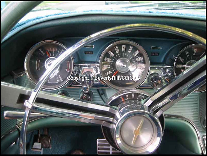 BNPS.co.uk (01202 558833)<br /> Pic: BeverlyHillsCarClub/BNPS<br /> <br /> ***Please Use Full Byline***<br /> <br /> The dashboard of the car. <br /> <br /> A classic Ford Thunderbird car owned by late Clash frontman Joe Strummer has emerged for sale for a mystery sum.<br /> <br /> The rock legend bought the plush motor in 1987, splashing out just 4,200 dollars for it when he moved to the USA in the wake of the band's break-up.<br /> <br /> A huge fan of American cars, Strummer - the genius behind The Clash's biggest hits such as Rock the Casbah, London Calling and Should I Stay of Should I Go - drove the 1963 Thunderbird right up until his untimely death in 2002.<br /> <br /> Following Strummer's sudden death aged 50 from undiagnosed heart problems the car was passed to his publicist.<br /> <br /> The car, which has done 420 miles on its current engine, is now being sold on eBay by the California car dealers Beverly Hills Car Club.