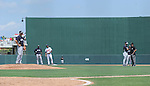 Masahiro Tanaka (Yankees),<br /> MARCH 22, 2014 - MLB : Masahiro Tanaka (L) of the New York Yankees stands on the pitchers mound during a spring training baseball game against the Minnesota Twins at Hammond Stadium in Fort Myers, Florida, USA.<br /> (Photo by AFLO)