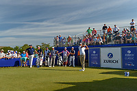 Charl Schwartzel (RSA) watches his tee shot on 1 during Round 3 of the Zurich Classic of New Orl, TPC Louisiana, Avondale, Louisiana, USA. 4/28/2018.<br /> Picture: Golffile | Ken Murray<br /> <br /> <br /> All photo usage must carry mandatory copyright credit (&copy; Golffile | Ken Murray)