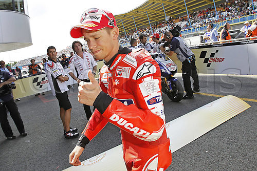 25 06 2010 MotoGP TIM TT Assen Free Practice 2 and Qualifying, Netherlands, June 25, 2010. Casey Stoner Marlboro Ducati