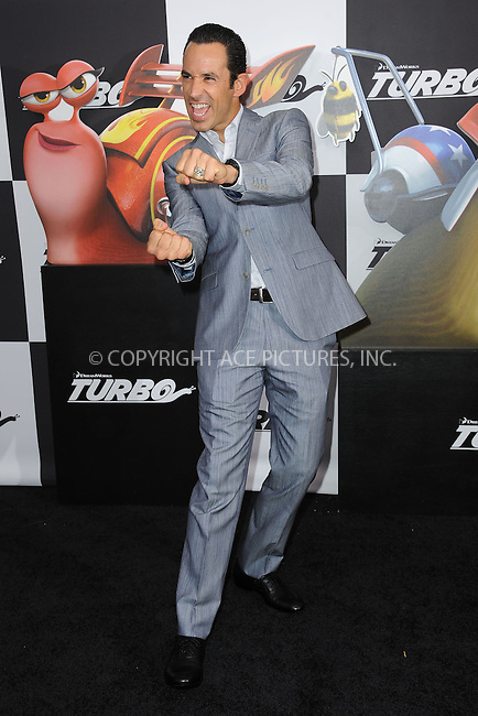 WWW.ACEPIXS.COM<br /> July 9, 2013...New York City <br /> <br /> Helio Castroneves attending the DreamWorks Animation, in Association with 20th Century Fox Premiere of TURBO<br /> at AMC Loews Lincoln Square, New York, NY on July 9, 2013.<br /> <br /> Please byline: Kristin Callahan... ACE<br /> Ace Pictures, Inc: ..tel: (212) 243 8787 or (646) 769 0430..e-mail: info@acepixs.com..web: http://www.acepixs.com