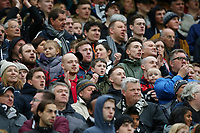 Swansea City fans during the Premier League match between Manchester United and Swansea City at the Old Trafford, Manchester, England, UK. Saturday 31 March 2018